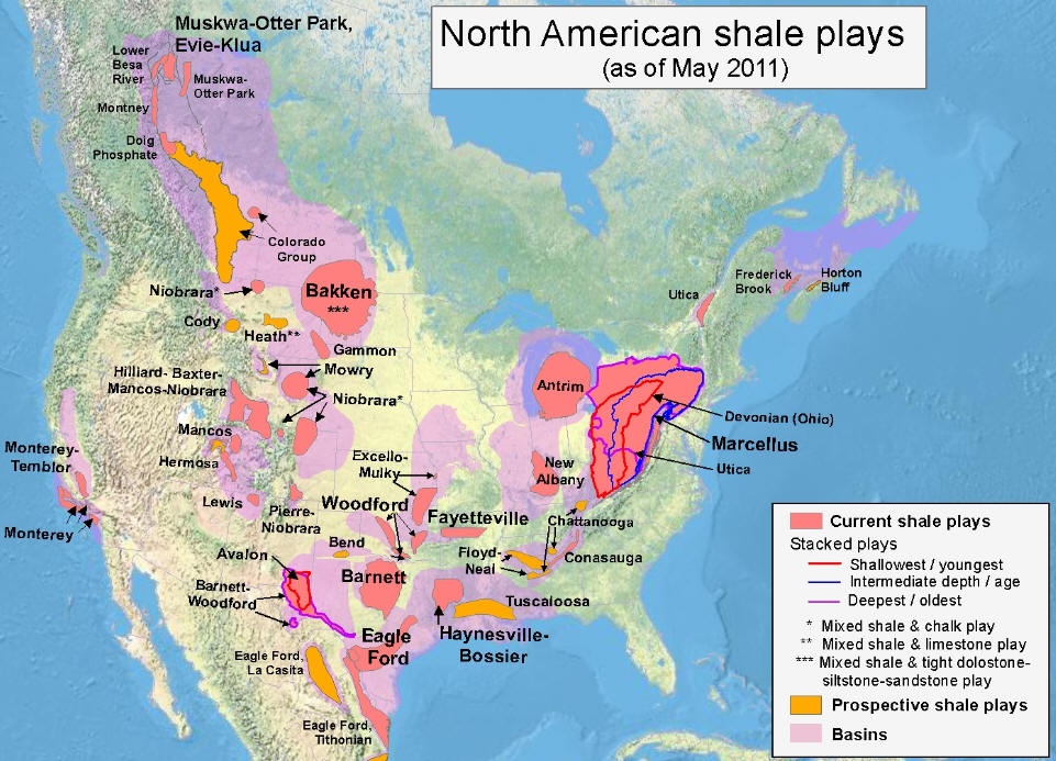 American Shale Plays - Us shale plays map